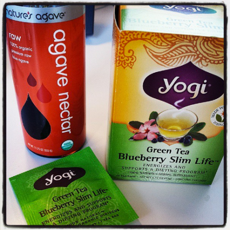 Yogi Organic Green Tea and Agave Nectar